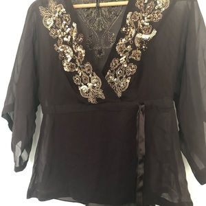 NWOT 100% Silk Top (2 Pieces) Sandra Angelozzi